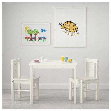 Table and 2 chairs for children